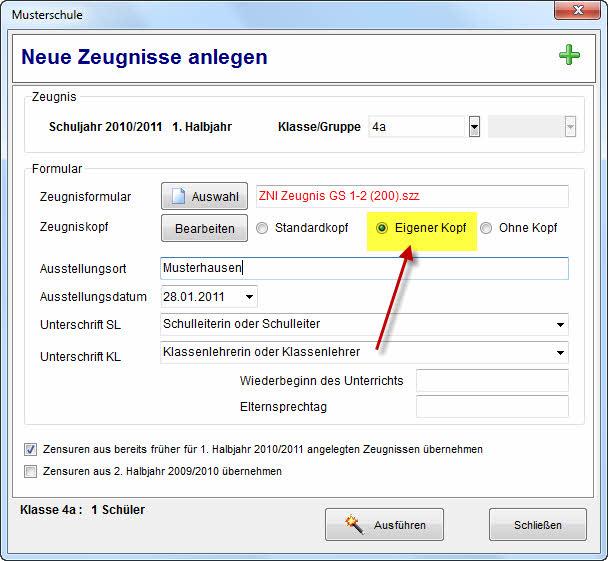 Rorig Software Hilfe Zeugniskopfbriefkopf Mit Schullogo Erstellen